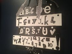 Black & white alphabet and number wooden sign perfect by Bedotted, $24.50