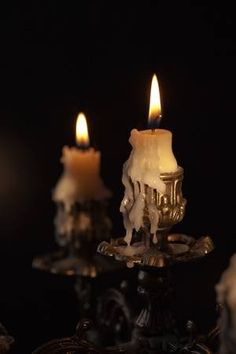 Picture of Bronze antique candlestick with burning candles in darkness stock photo, images and stock photography. Image 8514052. Chandelier Bougie, Arte Judaica, Candle In The Wind, Witch Aesthetic, Gothic Aesthetic, Candle Magic, Foto Art, Candle Lanterns, Burning Candle