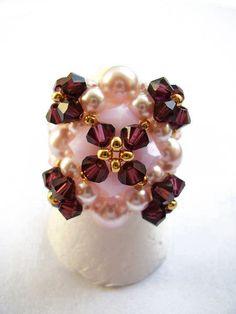Schéma de bague en perles n°042, Bagues en perles, Schémas (gratuits), ring