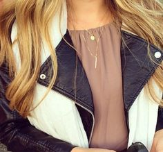 Layered Gold Everyday Necklaces / Delicate Gold Layering Necklaces / Minimalist