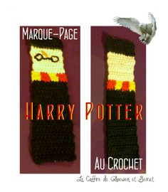 Harry Potter Crochet Bookmark Marque Page DIY