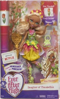 Ever After High Nina Thumbell doll. Credit: Ever After High Dolls on Facebook