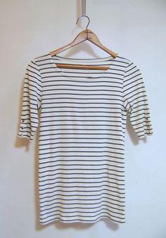 EUC Women's J CREW Striped Perfect Tee Shirt Sz S Cotton #JCrew #TShirt