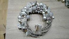 Vianočný veniec na dvere Hanukkah, Wreaths, Silver, Jewelry, Decor, Jewlery, Decoration, Door Wreaths, Jewerly