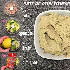 de atún fit Paté de atún Más (Recetas Fitness)DE DE, de, or dE may refer to: Real Food Recipes, Vegan Recipes, Cooking Recipes, Fitness Planner, Meal Planner, Comidas Fitness, Healthy Snacks, Healthy Eating, Nutrition