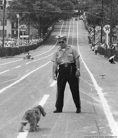 Soap Box Derby traffic control, 1961 - Lynchburg, Virginia