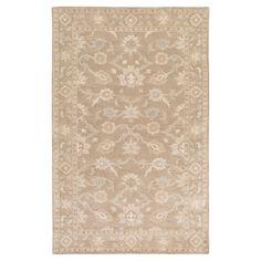 "Cicero Area Rug - Ivory, Dark Brown - (7'6"" x 9'6"") - Surya"