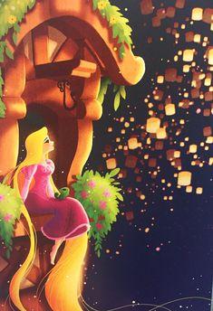 Artist Eunjung June Kim: Bell and Repunzel for Disney WonderGround Gallery Disney Artwork, Disney Fan Art, Disney Drawings, Disney Love, Disney Magic, Walt Disney, Rapunzel Disney, Disney Princess Art, Princess Rapunzel