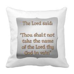 The 2nd #Commandment Throw Pillow#Pope...#pillows #homedecor #throwpillows #interiordecorating #interiordecoration #interiordesign #livingroom #bedroom #den #RoseSantuciSofranko #Artists4God  #Artist4God #home #accessories #decor #lumbarpillows #custom #customizable #Zazzle #RomanCatholic #BibleQuotes #Scripture #Jewish #OldTestaments #The10Commandments
