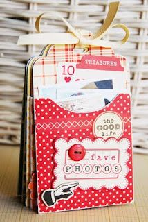 mini album made with cricut cartridge 'bags, tags, boxes and more'