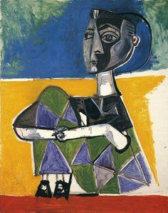 Jacqueline assise - Pablo Picasso 1954