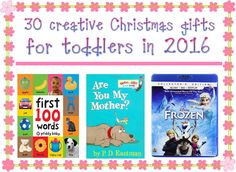 Christmas is round the corner and toddlers have the right to gifts too. We list a comprehensive list of creative Christmas gifts for toddlers.
