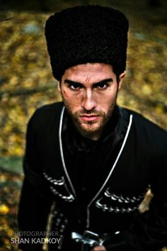 Circassian man in traditional cloth