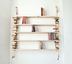 Furniture, The Exuberant Light Brown Colour For Bookshelf With Wooden Blocks Organize Your Space With Smart Shelving Design: Book Shelves Ta...