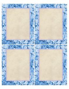 """""""In Full Bloom"""" ~ Printable sheet of 4 notepapers, 4"""" x 5"""" each."""