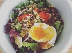 Summer lentil salad – gluten free recipe – All Recipes Food Cooking Network Egg Drop Soup, Cooking Network, Lentil Salad, Lentils, Gluten Free Recipes, Allrecipes, Cobb Salad, Free Food, Easy Meals