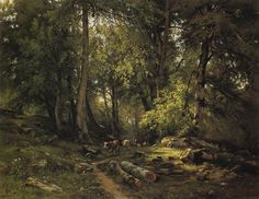 Herd in the forest - Ivan Shishkin - WikiArt.org