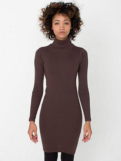 A sexy, form-fitting take on the classic turtleneck dress. Looks great alone, or layered with pants or leggings.