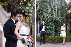 Kenwood Inn Sonoma wedding photos. Red, black and white wedding ideas
