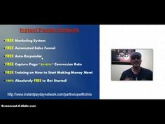 Work From Home and Get Paid! 100 % FREE! Instant Payday Network Quick Overview