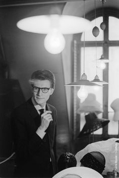 * Yves Saint Laurent - photo Pierre Boulat