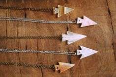 Give Me Strength Agate Arrowhead Necklace by Run2theWild on Etsy, $20.00
