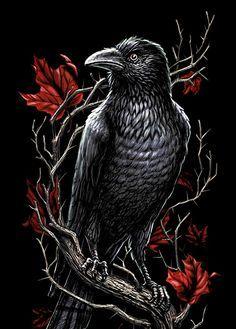 Crow going to Gothic charm school: Cyberpunk Tattoo, Birds Tattoo, Gothic Tattoo, Art Tattoo, Crow Tattoo, Gargoyle Tattoo, Dark Art, Gothic Art, Bird Art