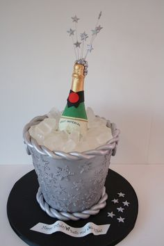 Bottle in bucket cake!