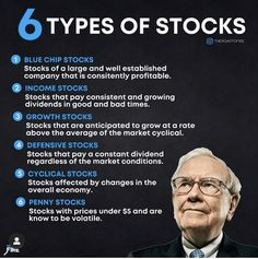 Different stock types for your portfolio. Stock Market Investing, Investing In Stocks, Investing Money, Stocks For Beginners, Stock Market For Beginners, Stock Trading Strategies, Planning Budget, Budgeting Finances, Business Money
