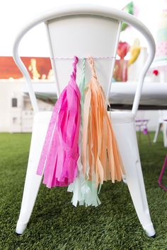Chair tassels from a