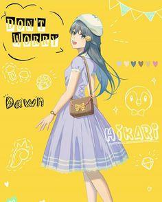 No Worries, Dawn, Pokemon, Anime, Beautiful, Fashion, Moda, Fashion Styles, Cartoon Movies