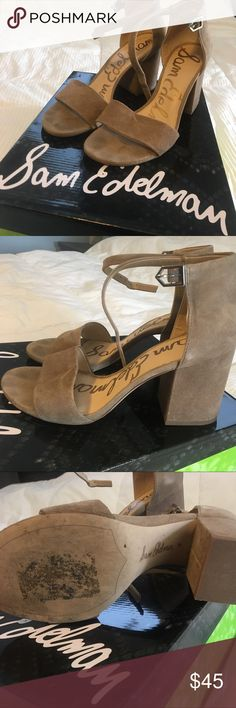 5095ee020de45 Shoes Neutral color. Chunky heel. Really comfy. Worn one time. Sam Edelman