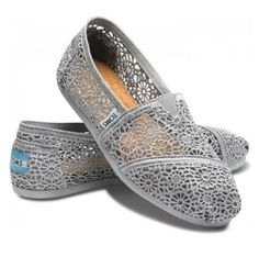 Lace grey Toms, just got. Perfect shade of grey!