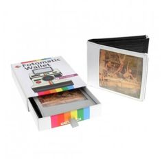 Fotomatic Wallet. Put your own photos into the clear old-school pockets of this wallet to create a very personal gift.