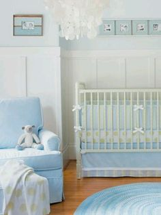 Pretty #blue #nursery - soft pale #bluenursery