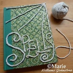 Making a simple spell book using twine marking out a web pattern and spells text #CraftForGirls