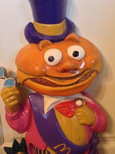 Mayor McCheese McDonaldland wall decor, as pictured on The McDonalds Block on Yardsellr.