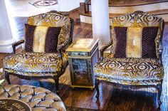 Emmanuel Design Group Heaven's Embrace Bergere Chairs