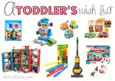Gift Ideas: A Toddler Wish List