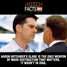 Hotch Facts - Criminal Minds he's totally different than his character from Chicago hope! Thomas Gibson, Criminal Minds Funny, Criminal Minds Cast, Best Tv Shows, Best Shows Ever, Favorite Tv Shows, Favorite Things, Chicago Hope, Behavioral Analysis Unit