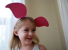 DIY Winnie The Pooh Ears, Piglet Ears, Tigger Ears for the costume stash