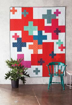 This wall hanging quilt is the perfect contemporary quilt pattern to make a statement in any household or office space - no matter the size!