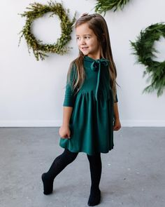 Little Girl Outfits, Little Girl Fashion, Toddler Fashion, Kids Fashion, Toddler Dress, Toddler Outfits, Toddler Girl, Toddler Christmas Dress, Children Outfits