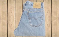 Vintage Levis 818 Womens Jeans W32 L32 UK Made 1990s Stonewash Blue Denim Button Fly by BlackcatsvintageUK on Etsy