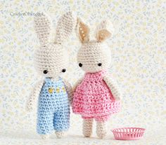 3 Dots Overall :: A free crochet pattern for baby bunny