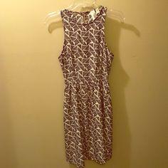 Black and Cream Geometric Tank Dress size M Medium. Made in USA. Black and cream tank dress! Gently used! Dresses Midi