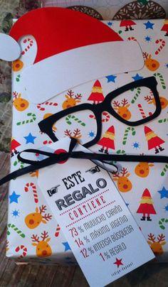 Mira qué idea tan original para envolver los regalos de Navidad. Visto en Pinterest