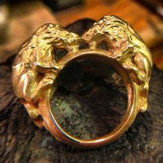 Twin Lion Ring by ruiandaguri on Etsy, $62.00