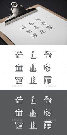 home icon - home Arquitectura Logo, Building Icon, Black Building, House Building, Library Logo, Construction Logo Design, Logo Real, Affinity Designer, Real Estate Logo