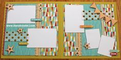 Two-Page Scrapbook Layouts | Two page scrapbook layout free to be me summer fun CTMH Cricut # ...